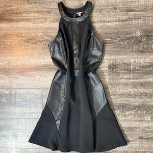 🔥HP GUESS Black Faux Snakeskin Halter Short Dress